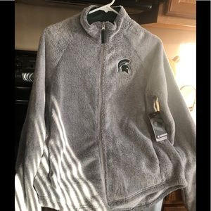 Women's New Gray MSU Jacket Size Small
